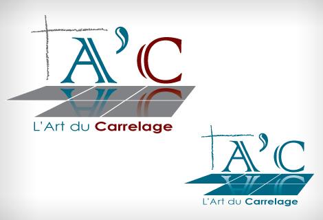 A'C - Art du carrelage - Création du logo A'C - Art du carrelage à Narbonne