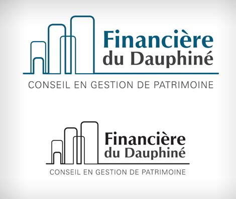 Financière du Dauphiné - Création de logotype pour Financière du Dauphiné