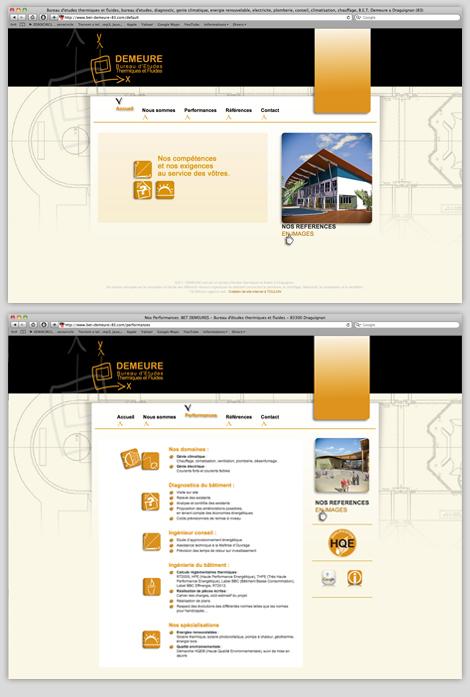 B.E.T. Demeure - Web design pour BET Demeure