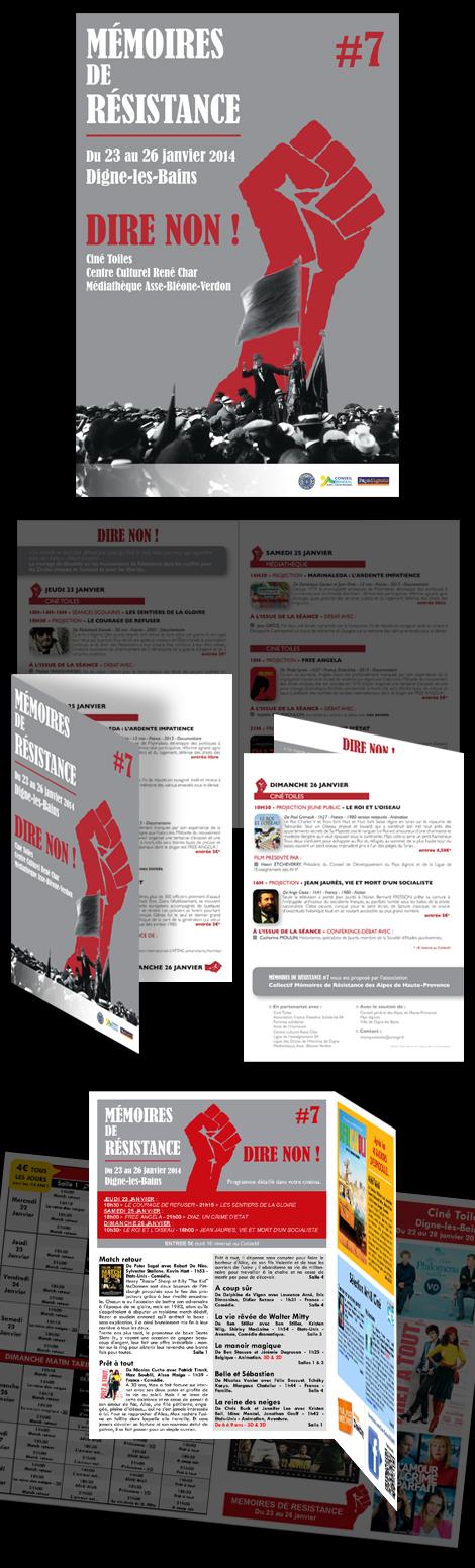 Mémoires de Résistance - Affiche, prospectus 4 volets et encarts publicitaires pour la 7e édition de Mémoires de Résistance