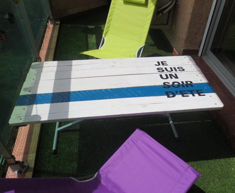 Tables en palettes - Table