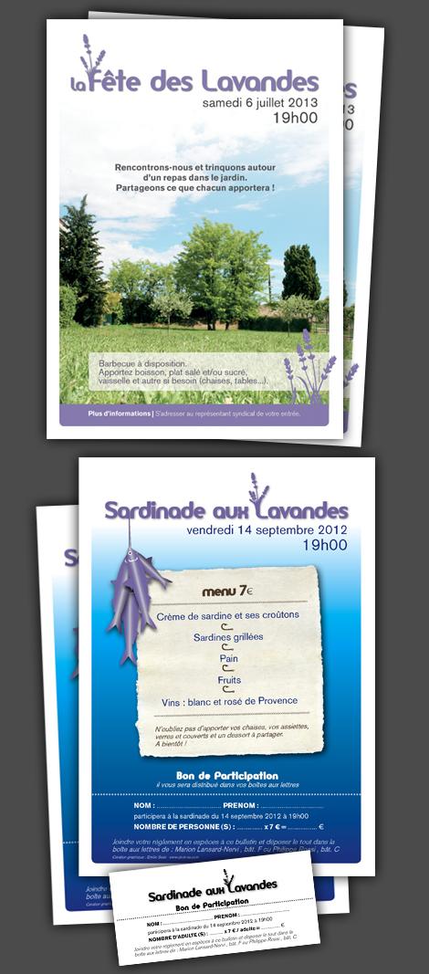 Copropriété - Affiches et bons de participation pour les fêtes des voisins organisées par le conseil syndical